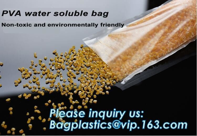 Dissolvable Biodegradable Laundry Bags Water Soluble Liquid Detergent